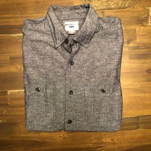 Old navy mens long sleeve button down shirt